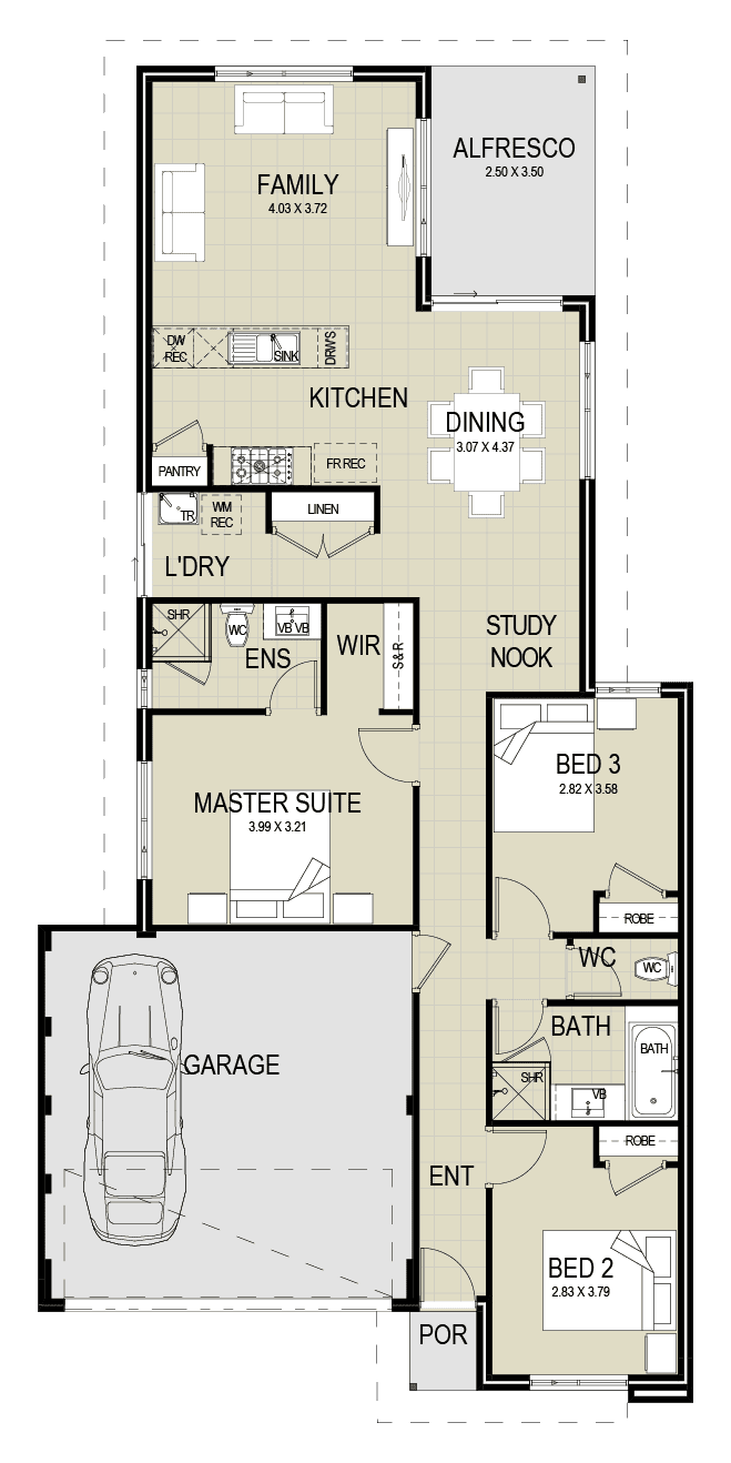 The Harley floor plan