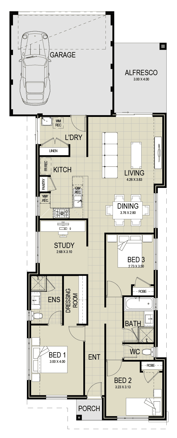 The Ultimo floor plan