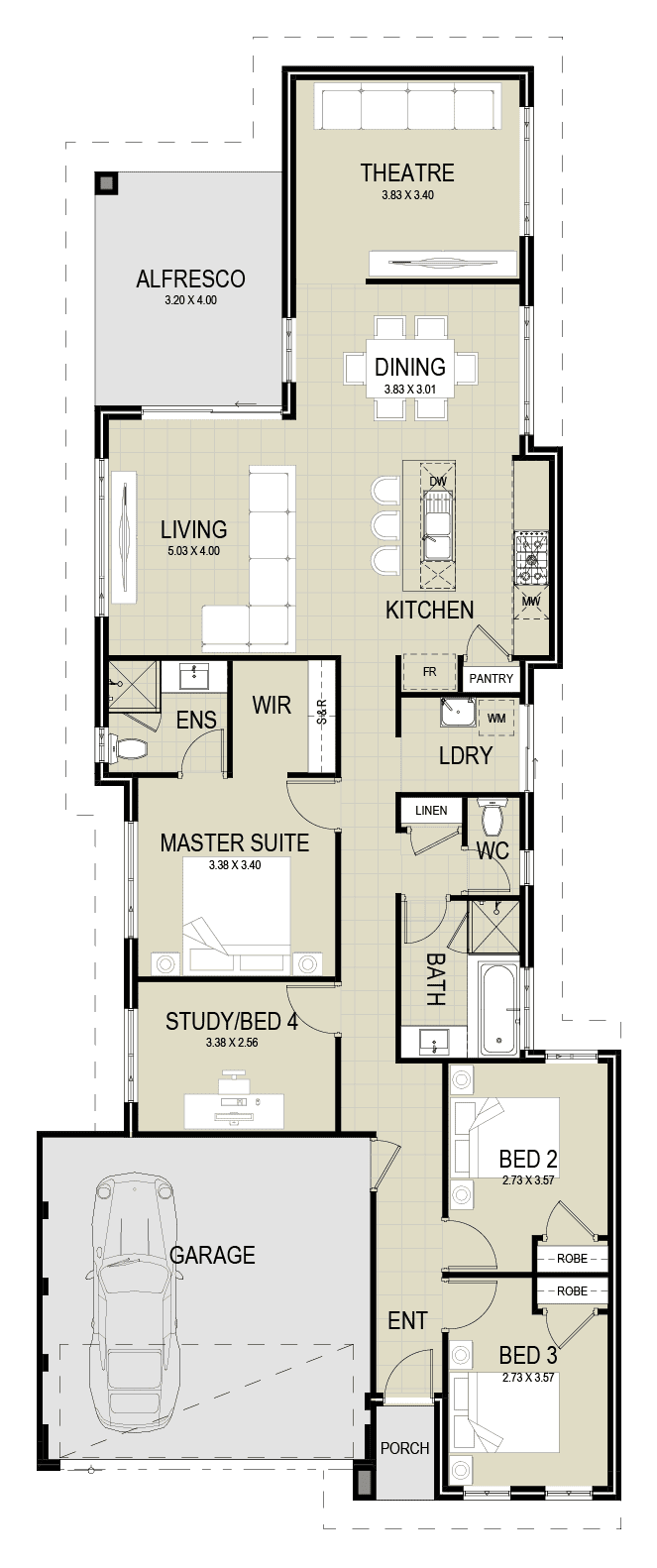 The Clairview floor plan