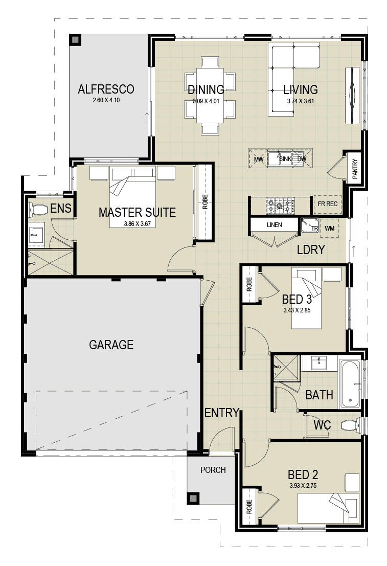 The Sarina floor plan