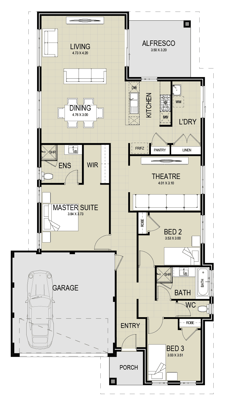 The Byron floor plan