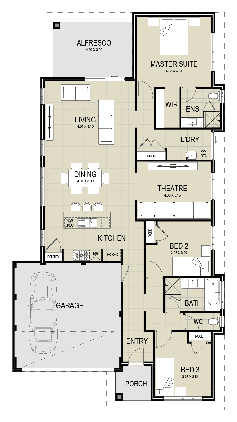 The Southport floor plan
