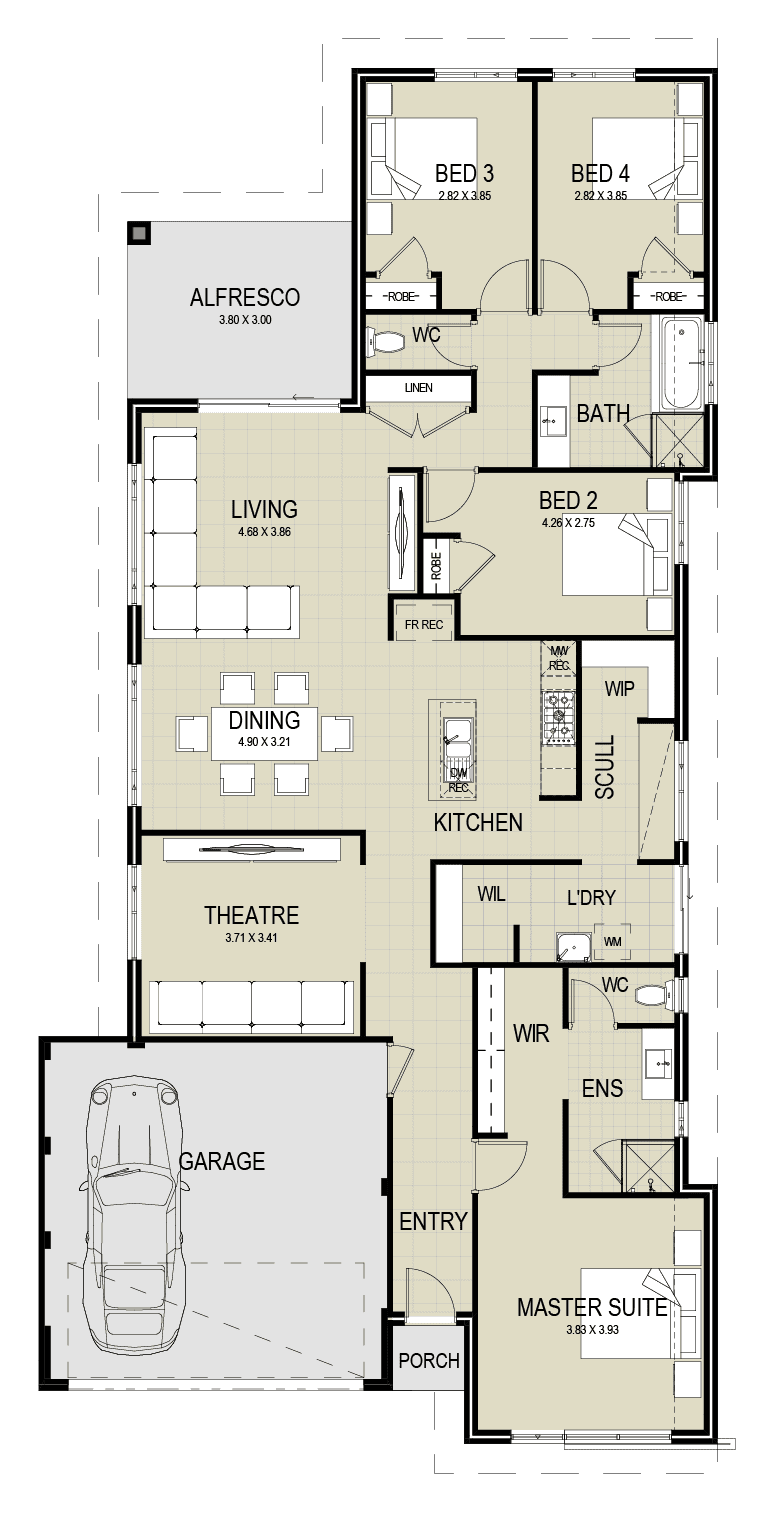 The Leeuwin floor plan