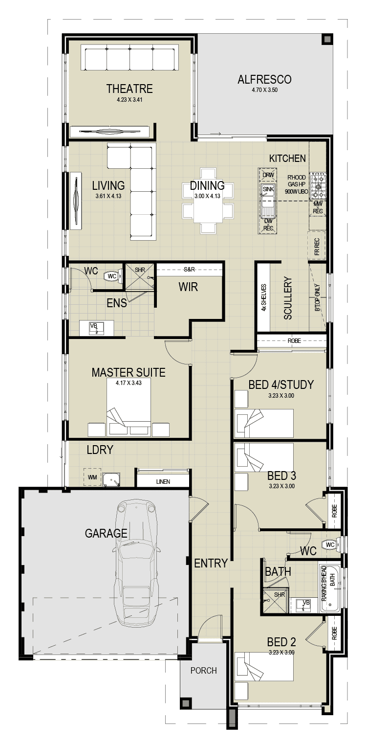 The Matilda floor plan