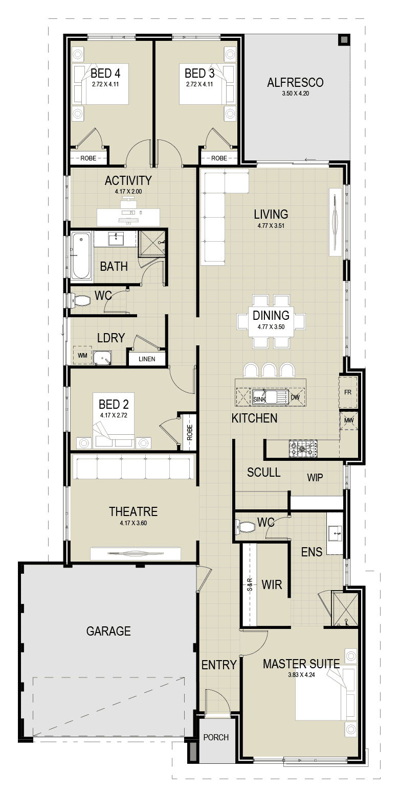 The Savannah floor plan