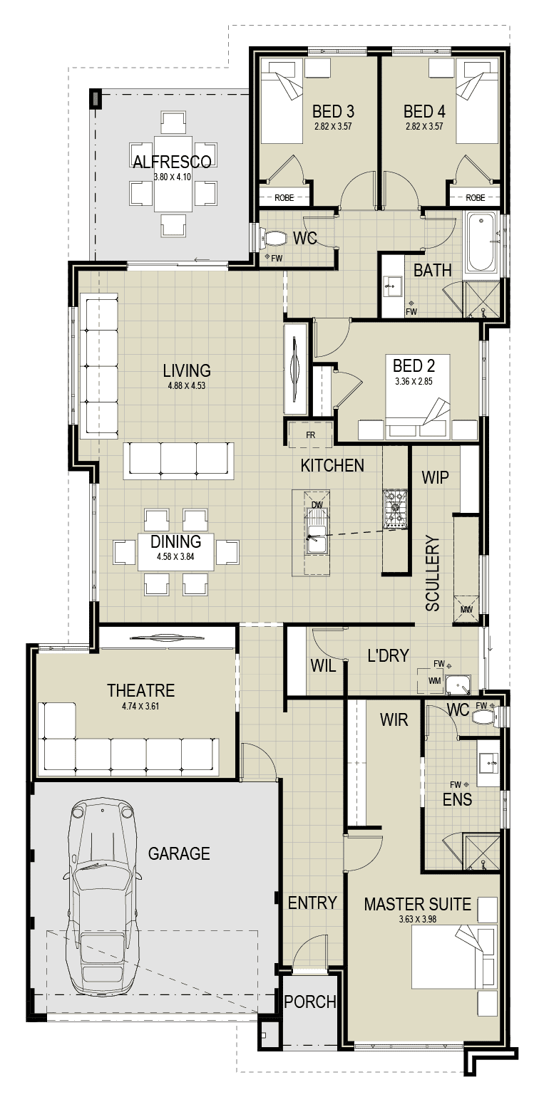 The Khazana floor plan