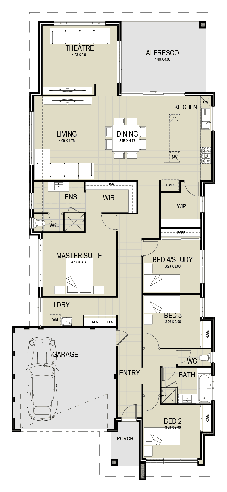The Madora floor plan