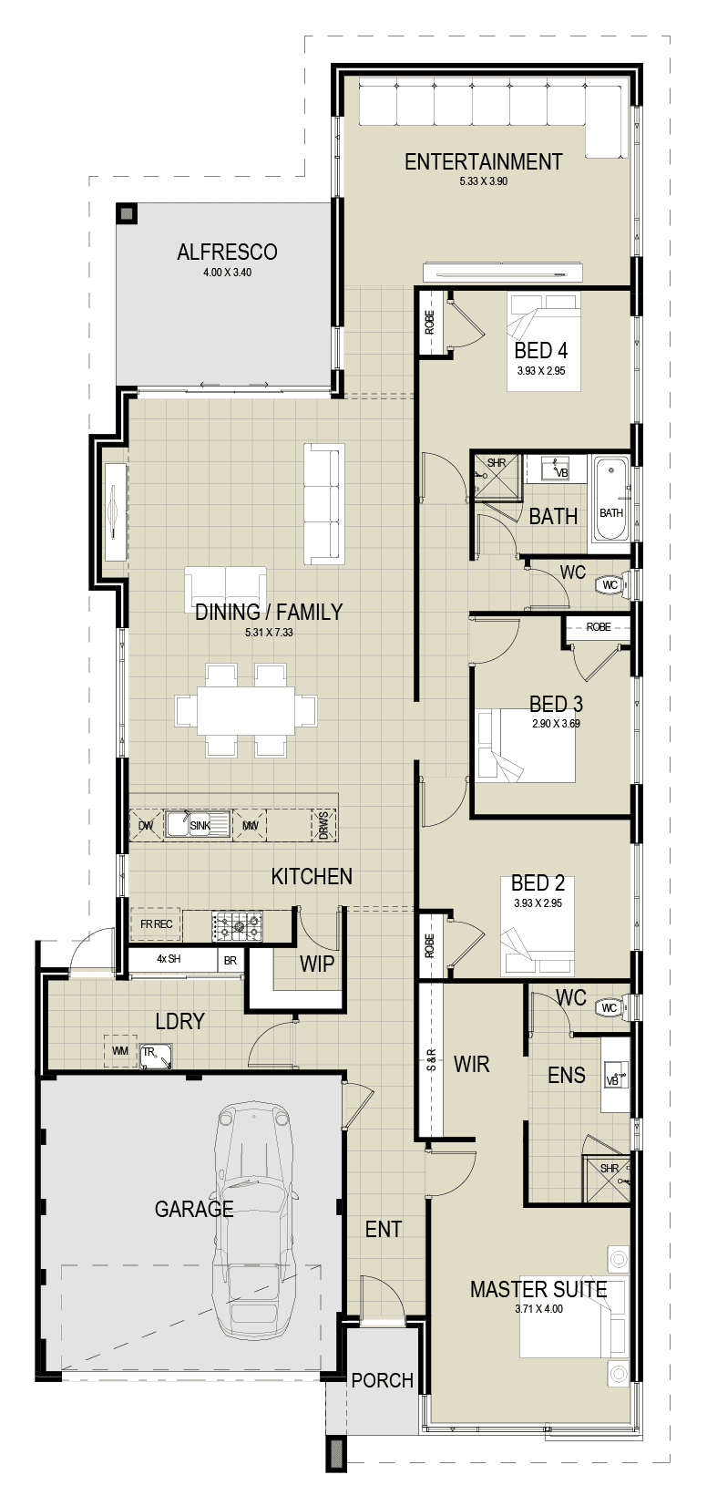 The Portland floor plan