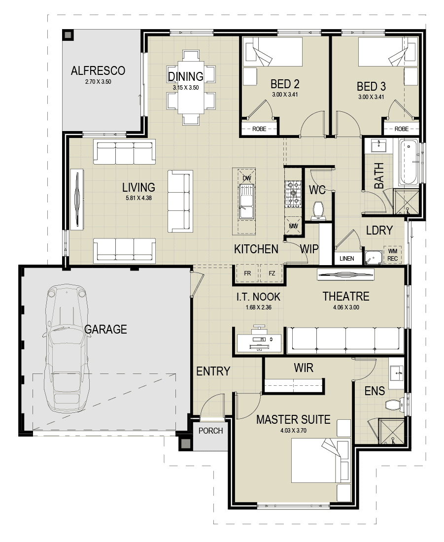 The Laguna floor plan