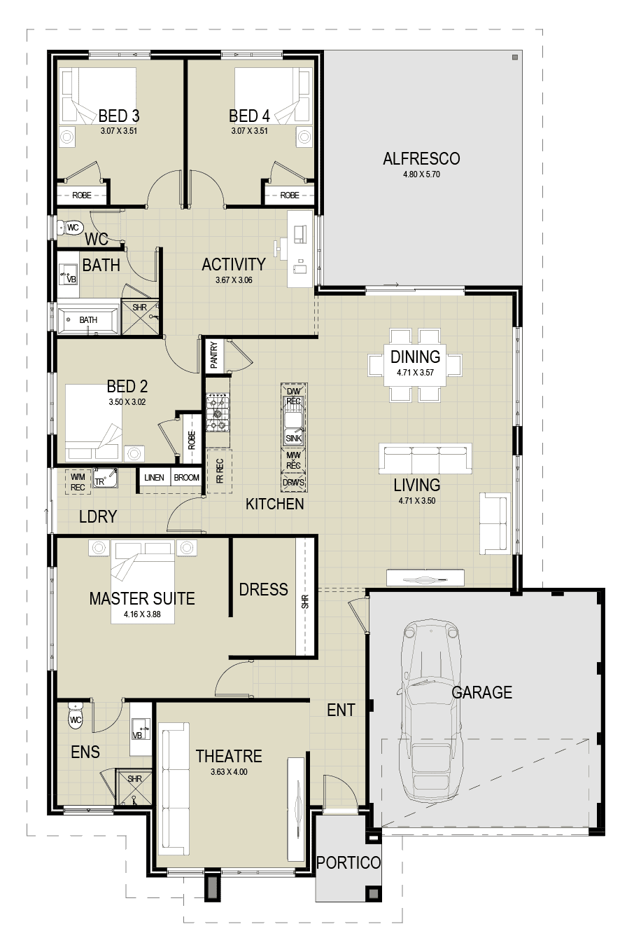 The Otis floor plan