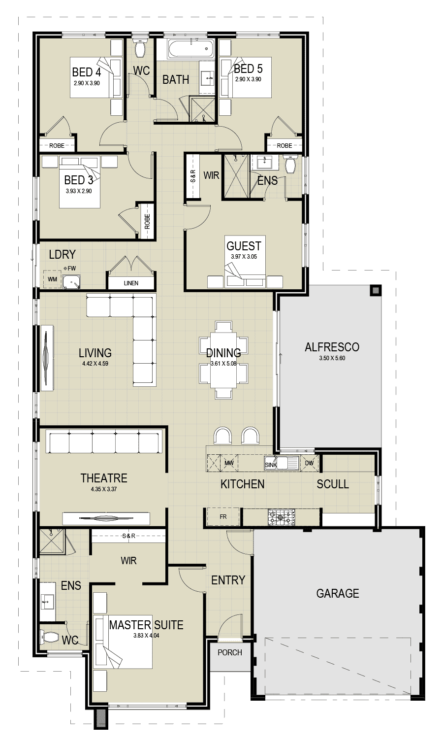 The Windsor floor plan