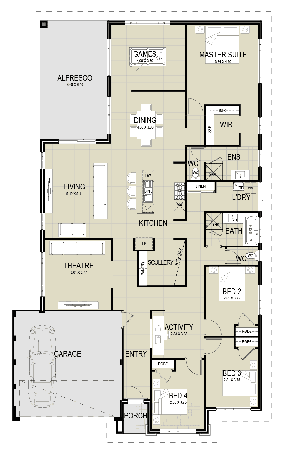 The Grange floor plan