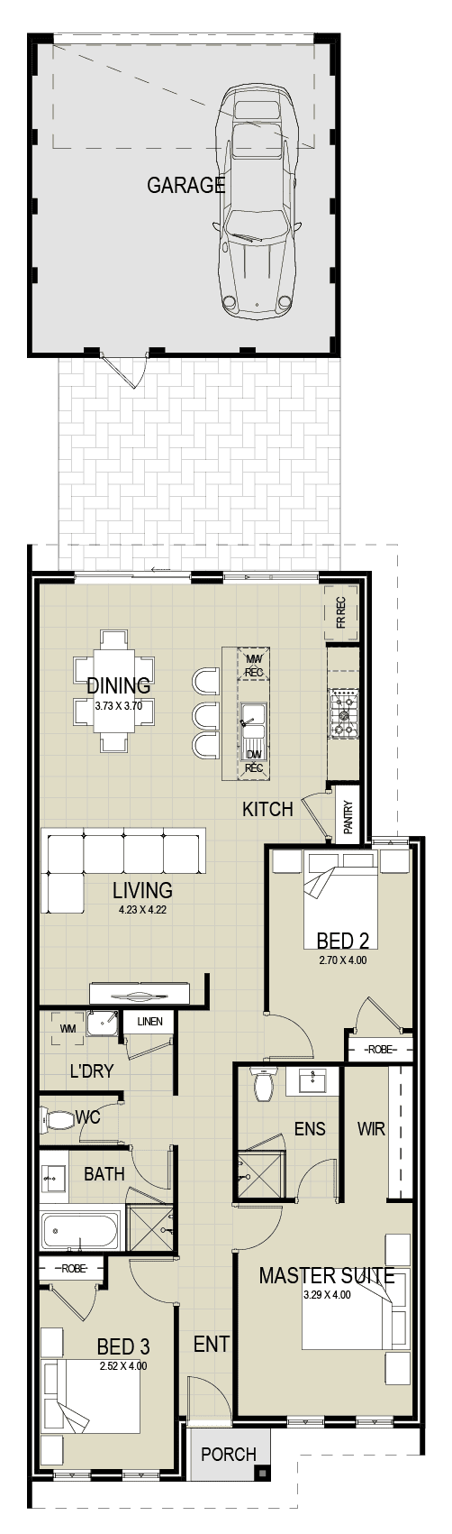 The Vista floor plan