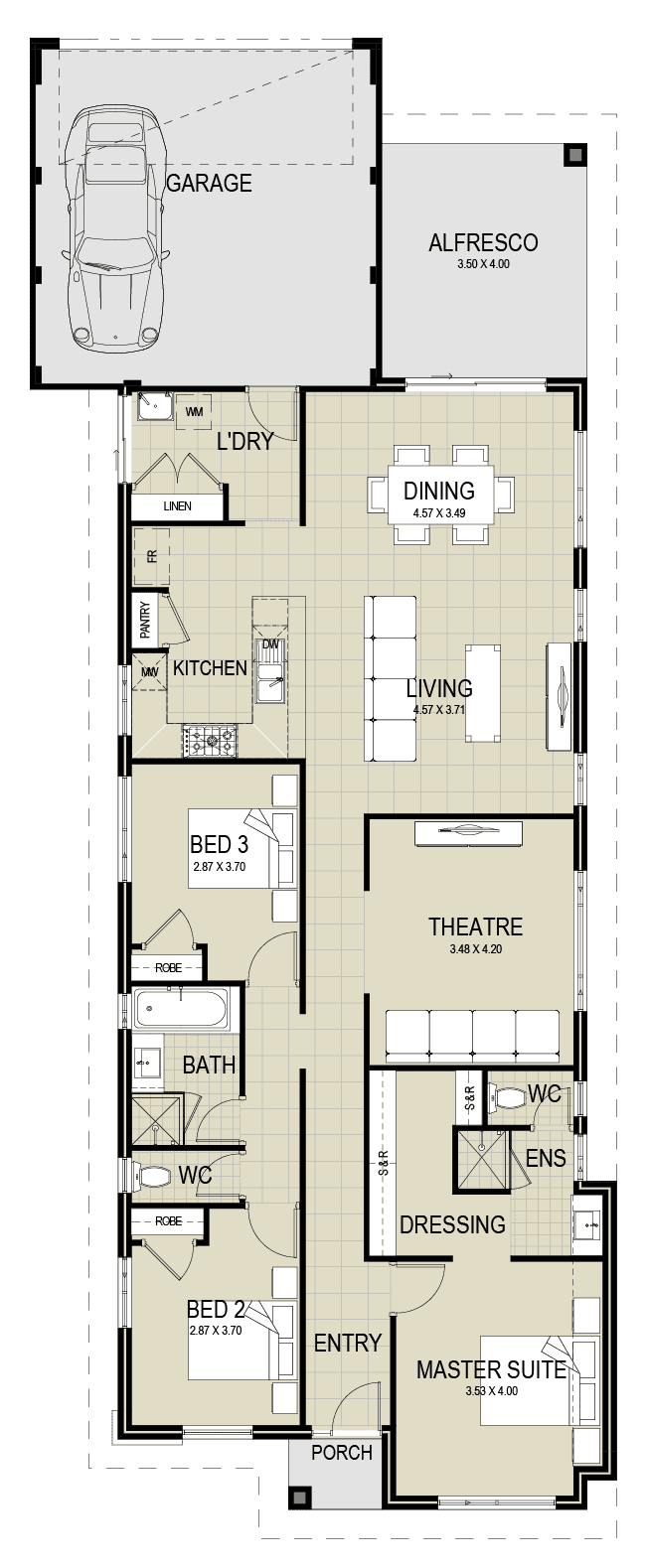 The Destiny floor plan