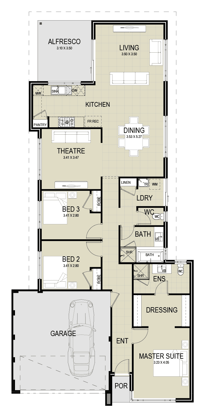 The Zeus floor plan