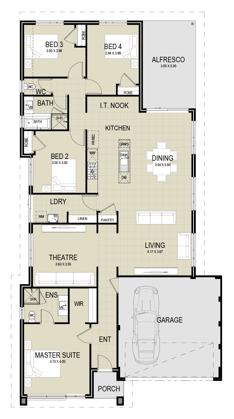 JINDALEE H&L Package – The Apollo floor plan