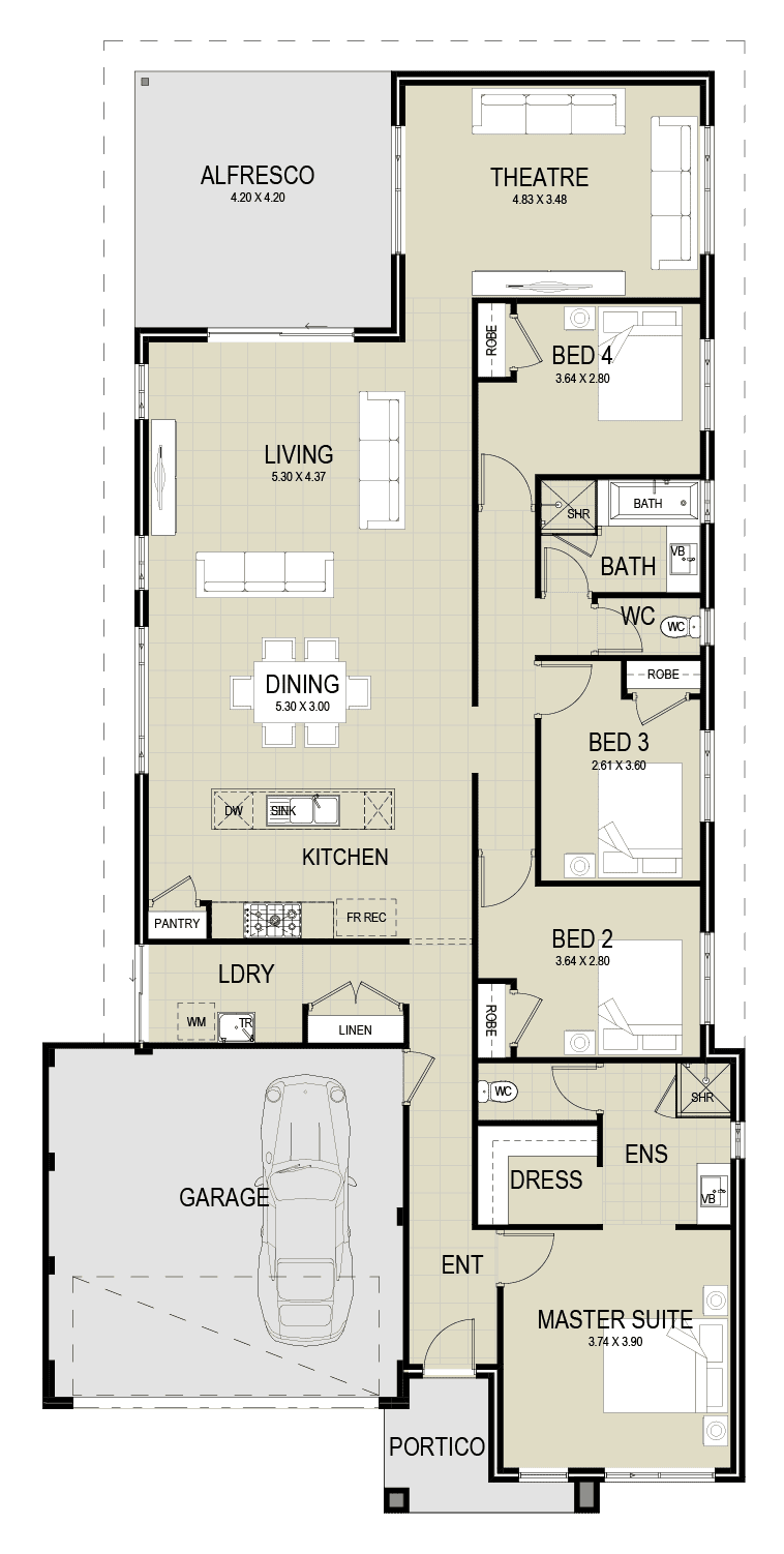 The Koda floor plan