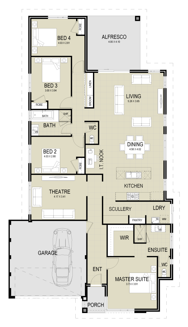 The Hayman floor plan