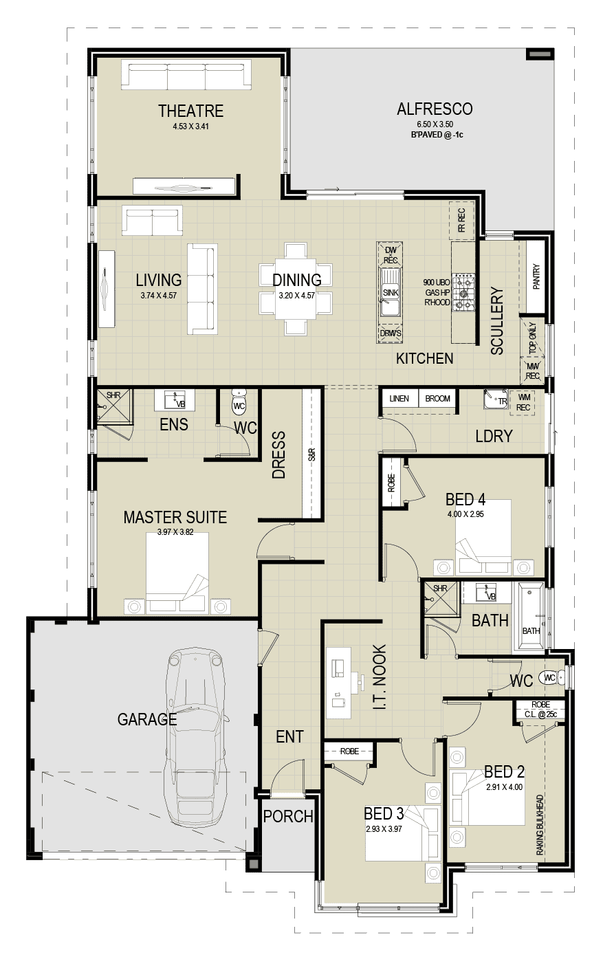 The Winston floor plan