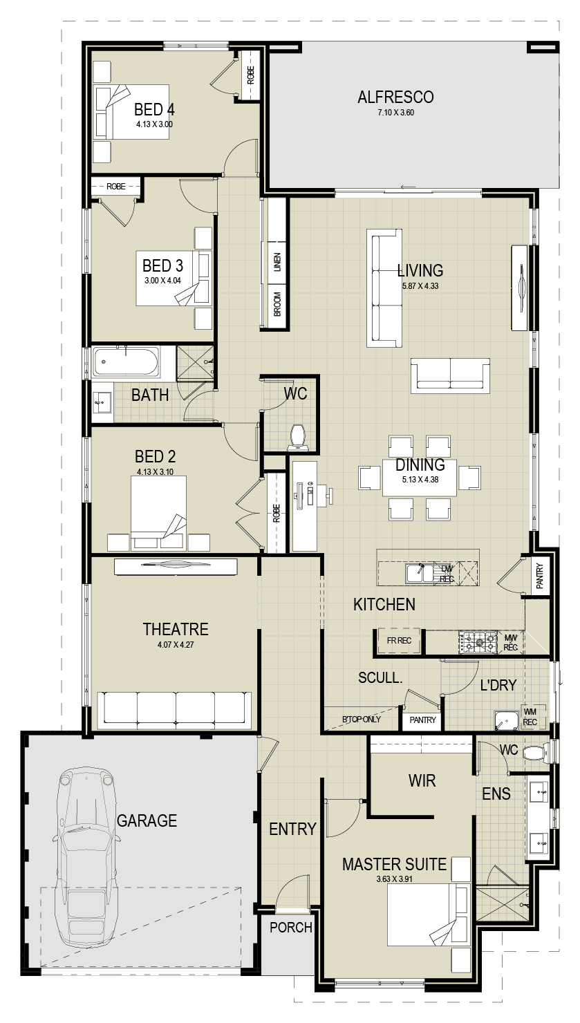 The Sandalford floor plan