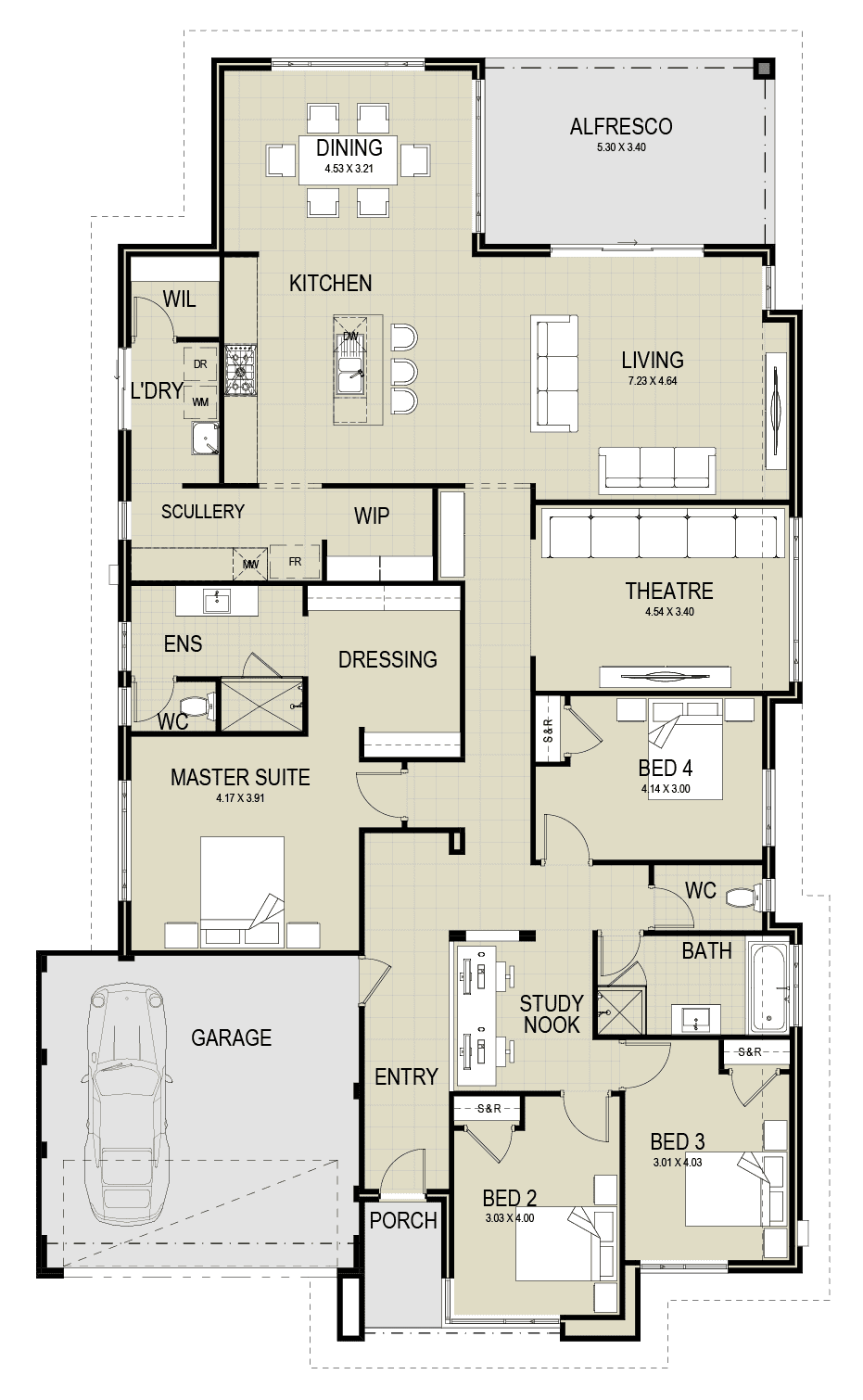 The Monaco floor plan